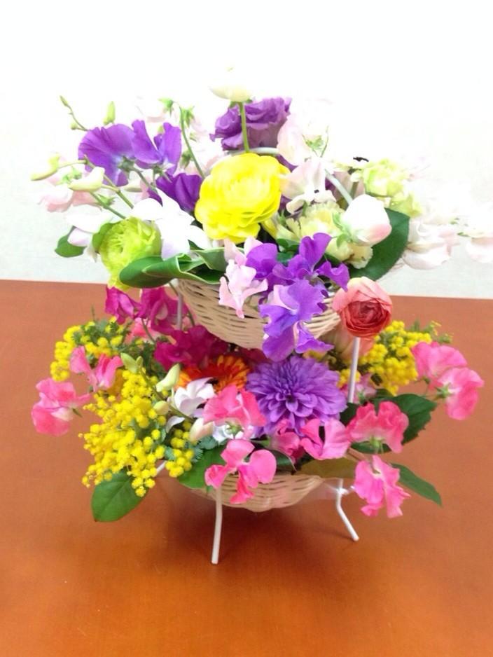 2段の花かご